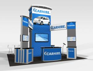 RE-9076 CarHire Trade Show Rental Exhibit -- Image 1