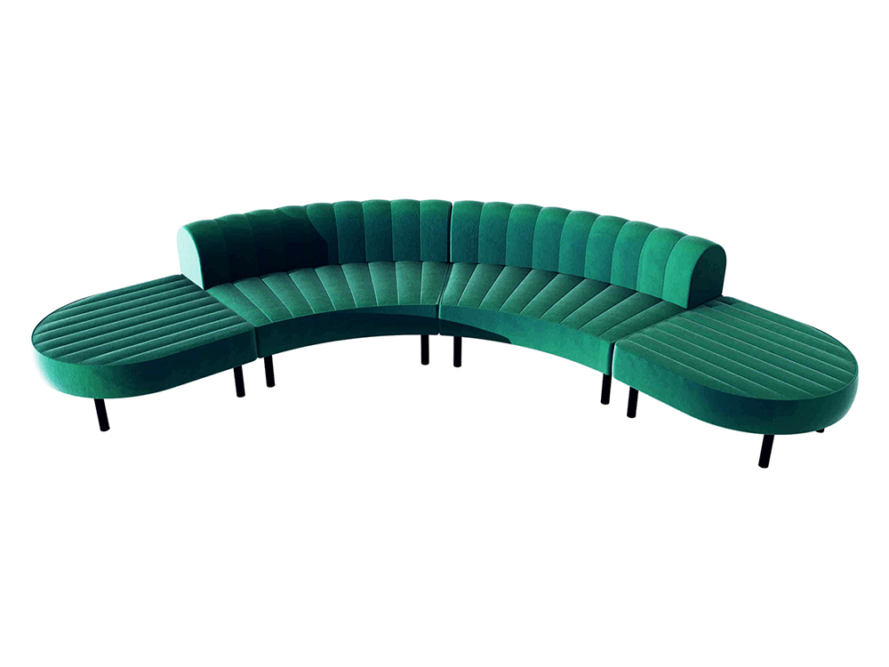 Endless Low Back Comma Sectional -- Trade Show Furniture Rental