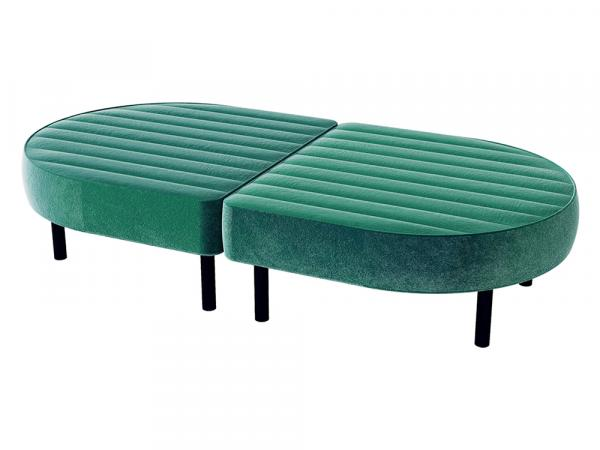 Endless Oval Ottoman -- Trade Show Furniture Rental