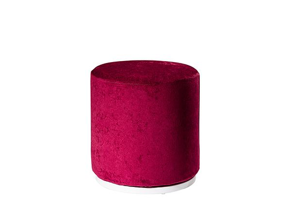 CEOT-040 (Raspberry Fabric) | Marche Swivel Ottoman -- Trade Show Rental Furniture