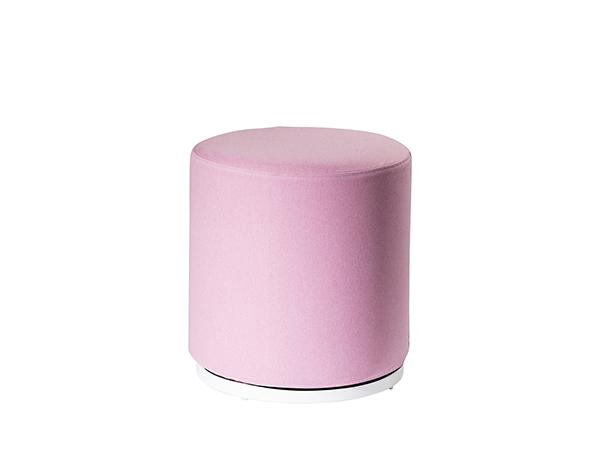 CEOT-042 (Rose Quartz Fabric) | Marche Swivel Ottoman -- Trade Show Rental Furniture