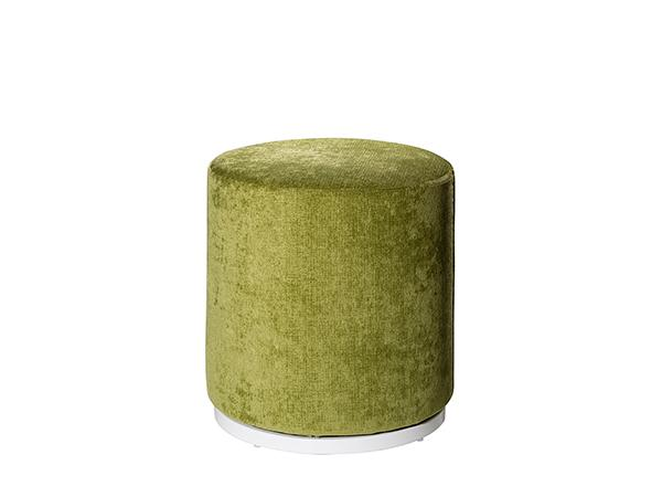 CEOT-037 (Meadow Green | Marche Swivel Ottoman -- Trade Show Rental Furniture