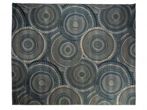 Blue Gray Accent Rug -- Trade Show Rental Furniture