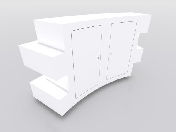 MOD-1592 Custom Trade Show Curved Reception Counter -- Image 4