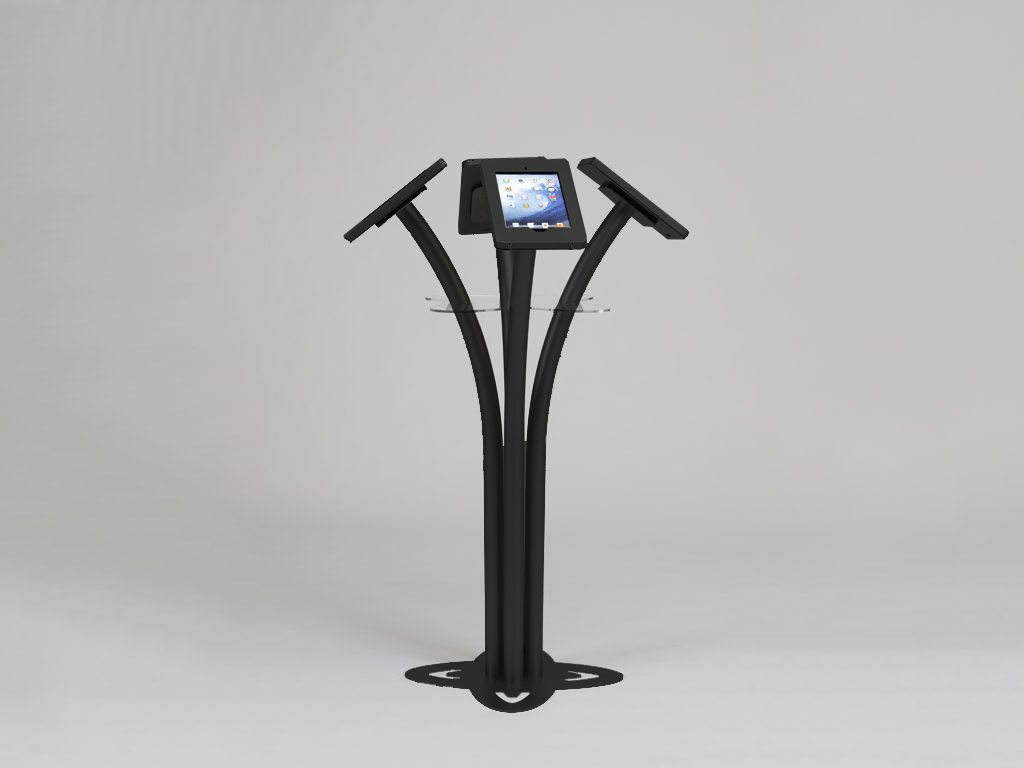 MOD-1338 Portable iPad Kiosk -- Black -- Aluminum Base