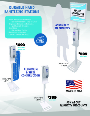 Durable Hand Sanitizing Stations -- Engineered to Last