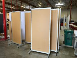 "Safety Dividers with Acrylic Inserts in (3) Sizes:  48"" x 78"", 36"" x 78"", and 24"" x 78"""