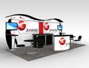 Axway Portable Hybrid Trade Show Exhibit -- Image 1